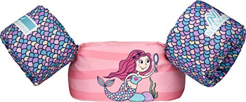 NEXWAVE Kids Floaties for Pool,Toddler Life Jacket 30-50 Pounds,Girls Swim Vest, Baby Swimmies Floats in Puddle/Sea Beach Playing and Jumper,Mermaid