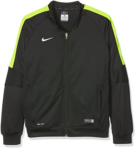 Nike Giacca Squad15 SDLN Knit, Multicolore (Black/Volt/White), S