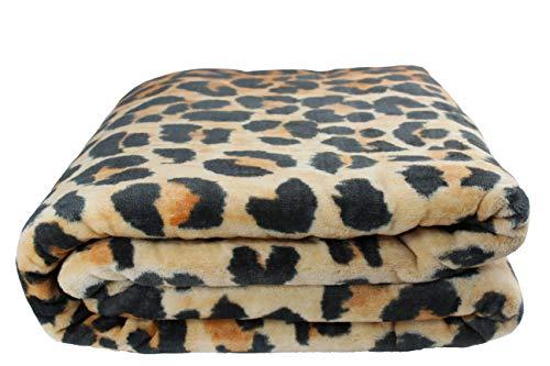 Desconocido Manta Grande Rachel Terciopelo (Leopardo, 240x220)