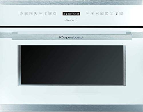 Küppersbusch EEBK 6551.0 WX1 Compact Einbau-Backofen Premium, Energieklasse A, 45cm, 46l, Design Weiß/Edelstahl inkl. Bratenthermometer