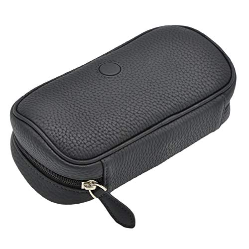 LUCKFY Smoking Tobacco Pipe Pouch Case Bag - Tobacco Pouch Cigarette Holder Case - Leather Pipe Bag - for 2 Pipes Tamper Filter Tool Cleaner Preserve Freshness