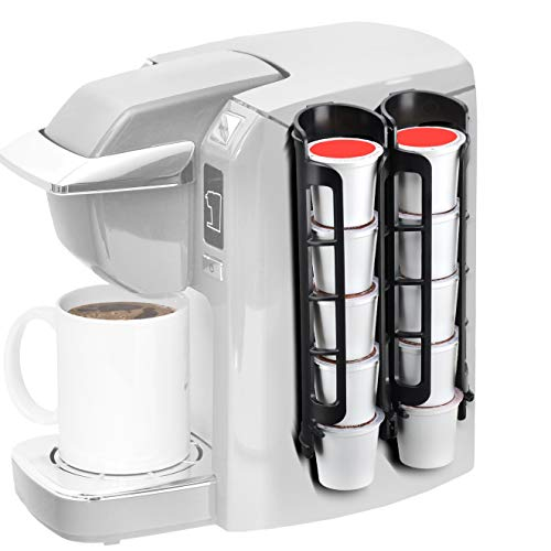 Coffee Pod Holder Side Mount K Cup Pods Dispenser compatible with Keurig Coffee Makers, Perfect for Small Counters