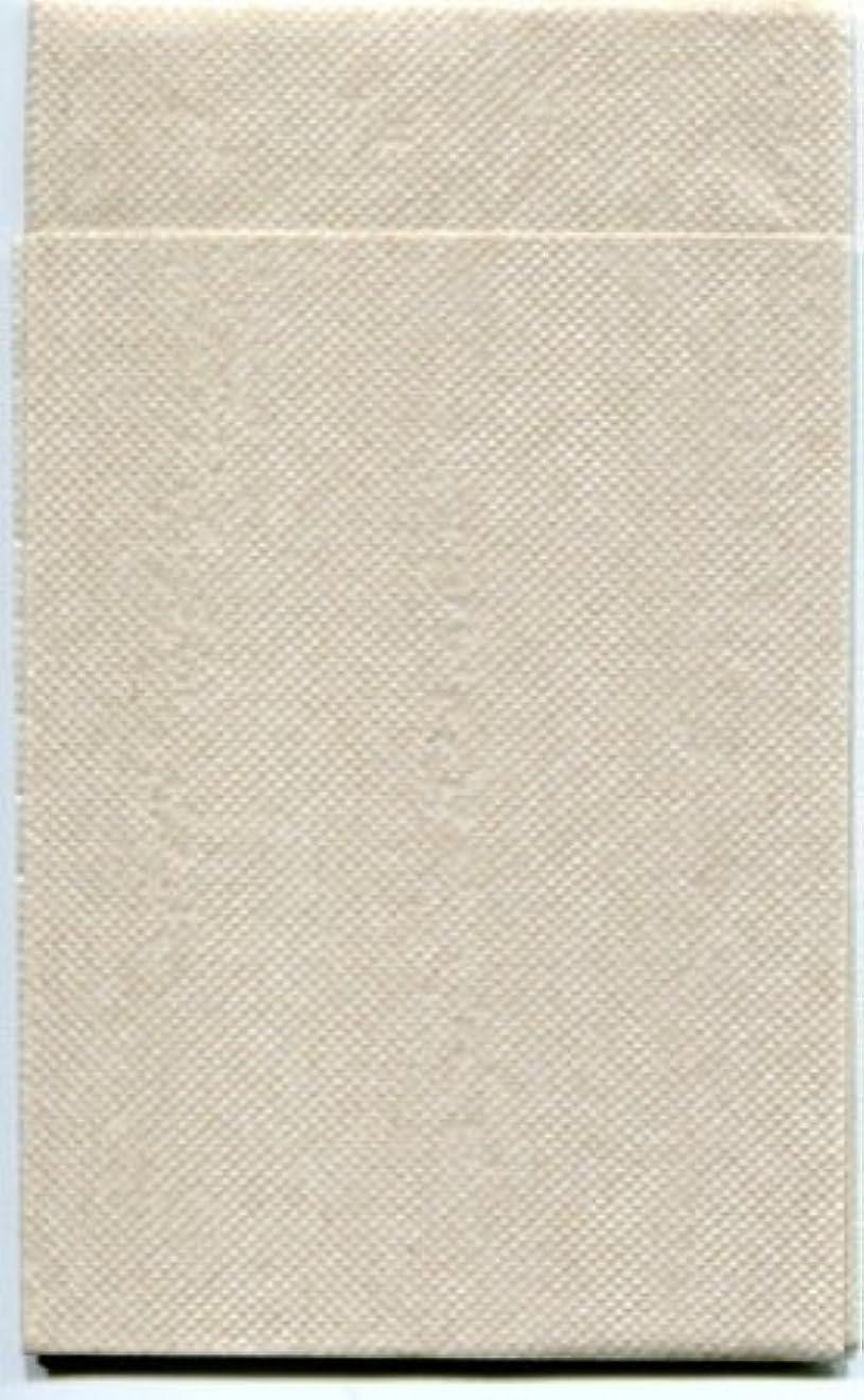 スラム街ポジション不潔カラー6折紙ナプキン「ナチュラルカラー未晒」(100枚)