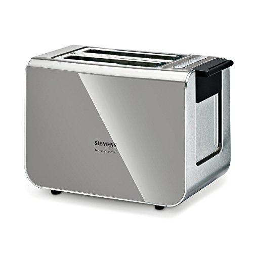 Siemens TT86105 Broodrooster 860 Watt Voor 2 Sneetjes Toast, Warmte-Geïsoleerde Behuizing, Urban Grijs