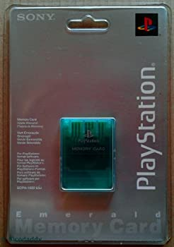 PlayStation PsOne Memory Card Emerald Green - SCPH-1020