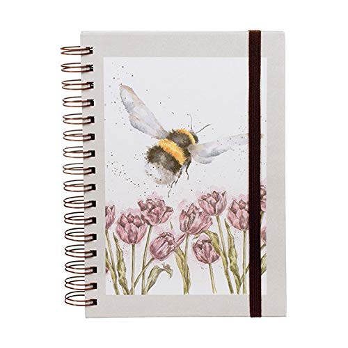 Wrendale Designs Notizbuch Hummel Country Tiermotive by Hannah Dale 15 x 21 cm Buch Ringbindung Schreibblock Heft