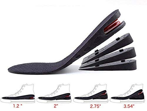 """Height Increase Insole, 4-Layer Orthotic Heel Shoe Lift kit with Air Cushion Elevator Shoe Insole Lifts Kits Inserts for Men & Women Taller Insoles 1.2"""" to 3.5"""" Variable Height"""