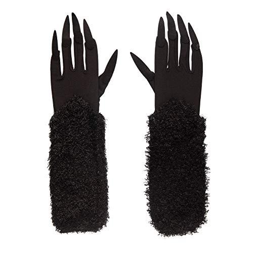 Bristol Novelty BA860 Katze Handschuhe mit Krallen, Schwarz, Einheitsgröße