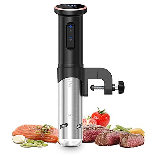 Sous Vide Aobosi Dispositivo de cocción al vacío Vaporera para cocinar al vacío Máquina de Cocina Circulador de inmersión Termal Temperatura Precisa|para bolsas de vacío Silencioso 1200 Vatios