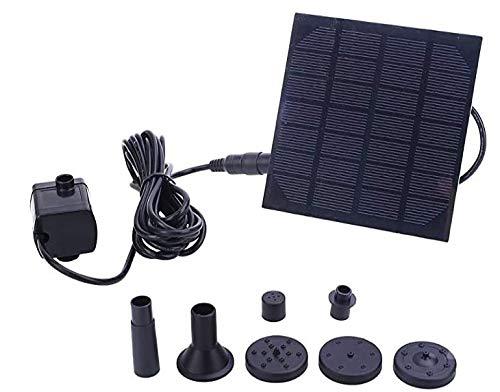 Hieefi Solar Springbrunnen, Solarwasser-pumpe, Wasser-Eigenschaft, Gartenteich Pool Sonnenenergie-brunnen Tauchwasserpumpe Eigenschaft Kit-Panel