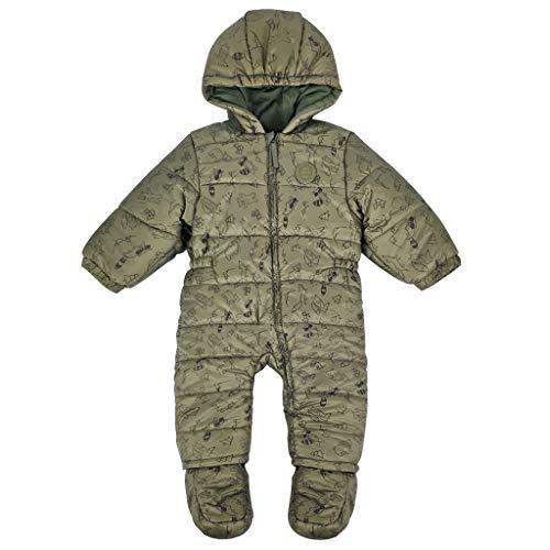 Baby Schneeanzüge Overalls mit Kapuze Winter Strampler mit Füßen Baumwolle Jumpsuit Outfits 12-18 Monate