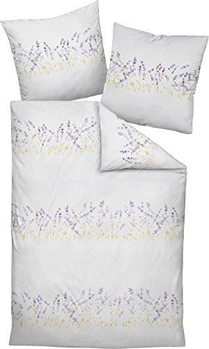 Janine Design Seersucker Bettwäsche Tango 20013-05 Lavendel 1 Bettbezug 135x200 cm + 1 Kissenbezug 80x80 cm