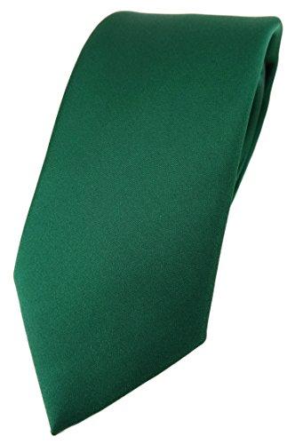 TigerTie Designer Krawatte in moosgrün einfarbig Uni - Tie Schlips