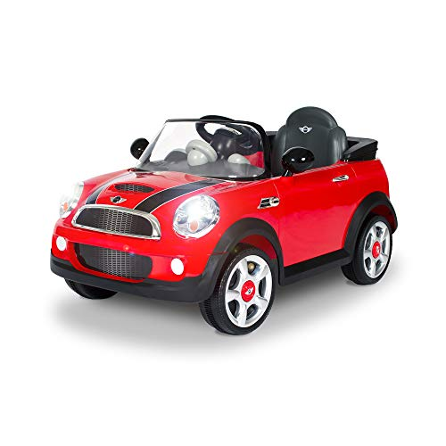 Rollplay 6V Mini Cooper Kid's Ride-On Car - for Boys & Girls Ages 3 & Up - Battery-Powered Ride On Toy - Red