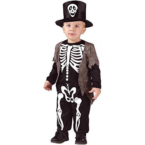 Fun World Happy Skeleton Toddler Costume Multicolor, Large 3T-4T