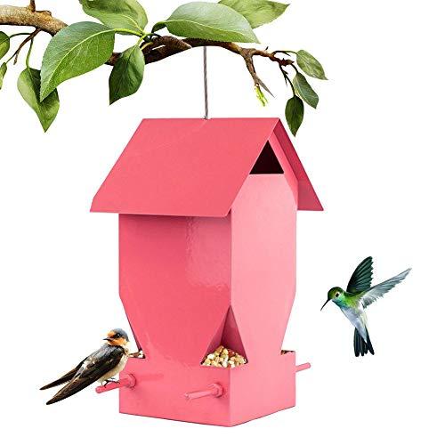 osmanthus Vogelhaus Vogelfutterhaus, Haus/Palette, Vogel-Futterhaus-Bausatz Aus Metallfarbe, Aufhängen Und Stecken, Garden Wild Bird Feed Dispenser Für Kleinsingvögel
