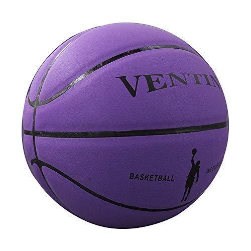 AILOVA Wettbewerb Basketball, Nr. 7 PU-Leder Spielball Student Erwachsene Basketball Indoor Outdoor Games (Lila)