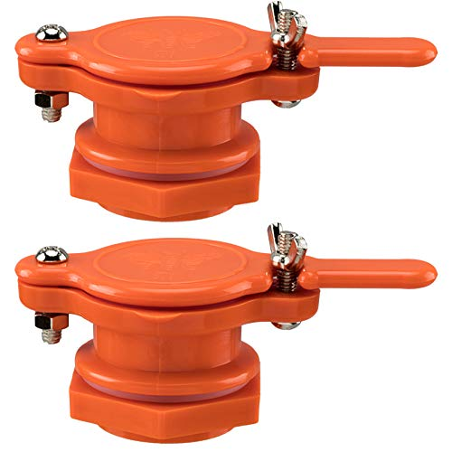 PAGOW Honey Gate Valve for Bucket, 2 Pack Honey Extractor Tap for Honey Tank, Durable Food Grade Plastic Beekeeping Equipment Tool