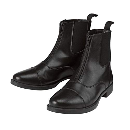 One Stop Equine Shop Ricki Women's Zip-Up Equestrian Riding Paddock Boots, Black 10