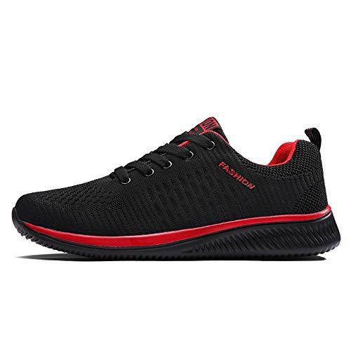 [FITKYJP] スポーツシューズ ジム トレーニング 超軽量運動靴 おしゃれ レッド ブラック 赤黒 42