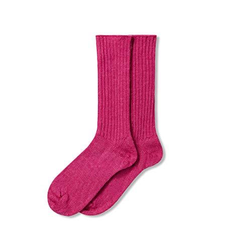 The Cambridge Sock Company Mohair-Socken für Herren & Damen, dünn, leicht, lockere Oberseite, nicht elastisch, perfekt für Menschen mit Durchblutungsstörungen, bequem, weich, Alltags-Socken – Klematis