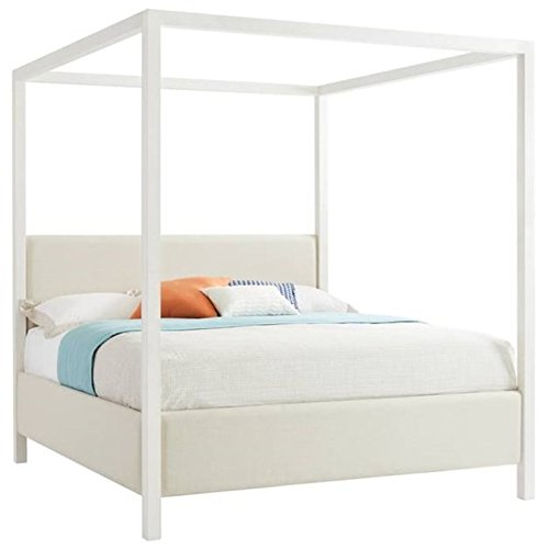 Lowest Price! Stanley Furniture Panavista Archetype California King Canopy Bed in Alabaster