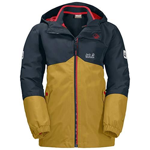 Jack Wolfskin Jungen Iceland 3In1 Jacket Jacke, Golden Amber, 164