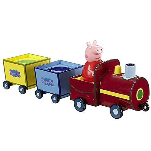 Peppa Pig - Tren con figura y movimiento, 35 cm (Bandai 44384335)