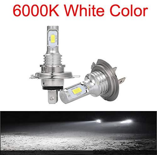 GCS Gcsheng LED CSP Mini H7 Lámparas LED para Automóviles Bombillas De Faros H4 LED H8 H11 Fog Light HB3 9005 HB4 Ice Blue 8000K 3000K Auto 12V (Emitting Color : 6000K, Lumens : 12000Lm)