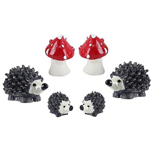 2 Sets Toadstool miniature maison de poupée jardin Art Bonsai Jouet Décoration de Paysage Micro