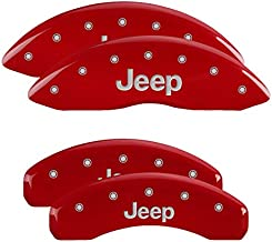 MGP Caliper Covers 42020SJEPRD Set of 4 Caliper Covers Engraved Front and Rear: Jeep Red Powder Coat Finish Silver Characters. Disc Brake Caliper Cover Jeep Caliper Covers 42020SJEPRD: Red Jeep/Jeep
