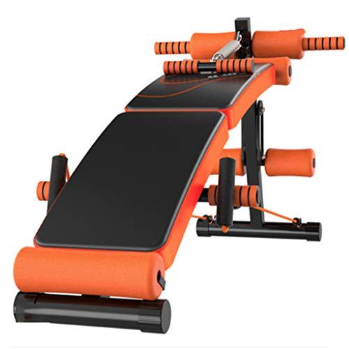 AWJ Multifunktionale Sit-ups Bank mit Frühlings-Booster Faltbare Hantelbank Supine Brett mit Stahlrahmen Workout Neigung Brett