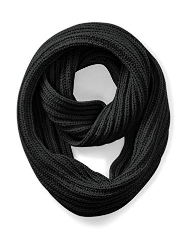 Beechfield B468.Cha Deluxe Infinity Écharpe Mixte, Noir, Taille Unique