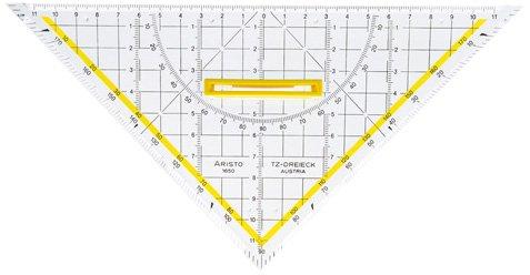 Aristo AR1650/4 Zeichendreieck TZ-Dreieck , Plexiglas , 250 mm, glasklar