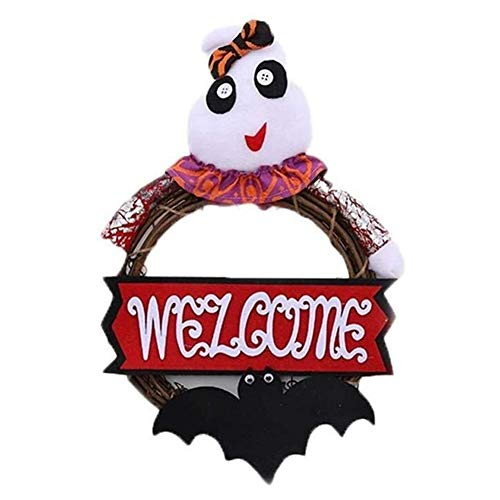LXJ Halloween Decoratie, Halloween Leuke Creatieve Rotan Ring Garland Decoraties Party Winkelcentrum Raam Decoratie Grote Scene Layout Props