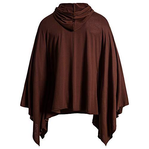 Herren Tops T-Shirts Beiläufig Mode Kapuzenpullover Fledermaushemd mit Tasche und Kordelzug Locker und bequem Mantel Langarm Trenchcoat Hip Hop Kleidung Einfachheit XL