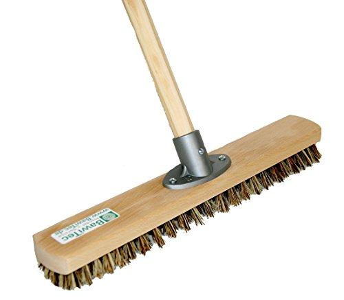 BawiTec Großraumschrubber Schrubber 40cm Scheuerbürste mit Stiel 140cm Bodenschrubber UnionMix-hart