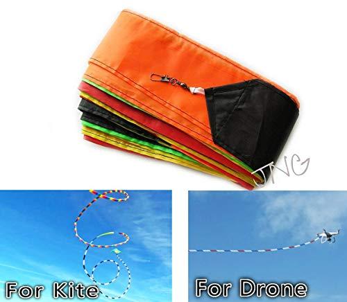 Amazona's presentz Super Long - Ultra Fun 30 Metres ( 98 ft ) Eye Catching Rainbow Tail for RC Drone, Kite, Air Show, Aerobatic Flight