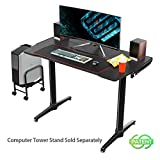 EUREKA ERGONOMIC I1 Gaming Desk 43.3' Home Office Computer PC Desk Gaming Tables Ergonomic Curve Design Desktop Cable Management for Men Boyfriend Female Gift