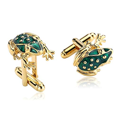 Ubestlove Gifts for Men 50Th Birthday Toad Shirt Cufflinks Stainless Steel Gift for Men Anniversary Gold