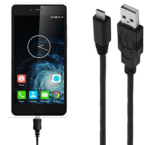 ASSMANN Ladekabel/Datenkabel kompatibel für Elephone S2 Plus - Schwarz - 3M