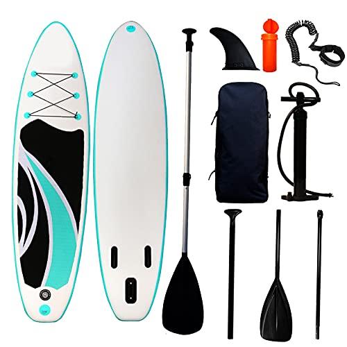 """ATGTAOS Tablas de Stand Up Paddleboards Inflables de 10.4 'con Accesorios de Sup Bolsa de Transporte de Viaje, Cubierta Antideslizante Palas Ajustables, Correa y Aleta para Remar,10.4'*31.4""""*6"""""""