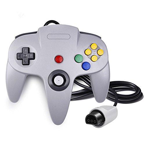 QUMOX Gioco controllore Joystick per Nintendo 64 N64 Sistema Gamepad Grigio