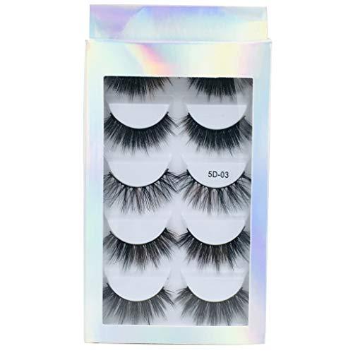 Générique Faux Cils Magnétique, 3D Cils Fausses Magnétiques sans Colle Cils Magnetique Naturel Sexy, 5 pcs Aimants Faux Cils Volume Russe Cils Magnetique Eyeliner Mascaras