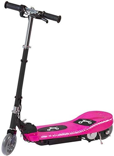 Kinder Elektrische e-Roller-Fahrt auf Ständer Escooter entfernbarer Sitz Fahrt auf Spielzeug-Auto-Motorrad-24V nachladbare Batter mit LED-Lauflicht Freies Schutzpolster, Farbe: Rosa mit Sitz