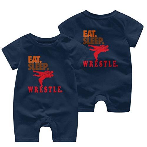 RROOT Eat Sleep Wrestle Body à manches courtes pour bébé garçon fille 0-24 mois - - 2 ans