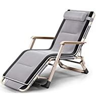 JALAL Loungers Portable Household Chair grey