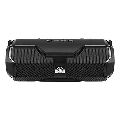 FLAMEER Altavoces inalámbricos Bluetooth compatibles con Tarjeta TF, Suministros portátiles, Regalo para el hogar, portátiles, tabletas, teléfonos - Rojo