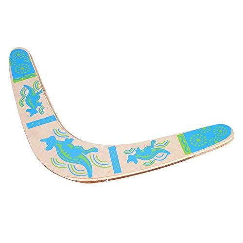 Yosoo Health Gear Boomerang de Madera, Boomerang En Forma de V, Boomerang Al Aire Libre Fácil de Lanzar y Girar, Adecuado para Juegos y Deportes Al Aire Libre
