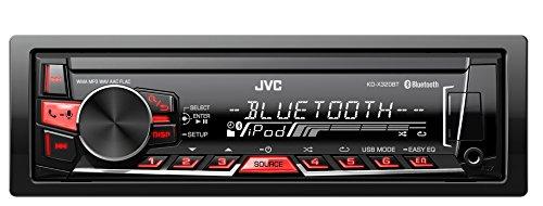 JVC KD-X320BTE - Radio para coches (88W, USB, AUX), negro
